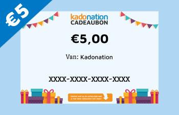 Kadonation cadeaubon van 5 euro