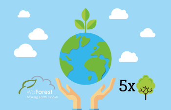 Plant 5 trees with WeForest